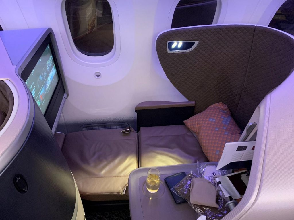 Business Class Seat Lay Flay mode