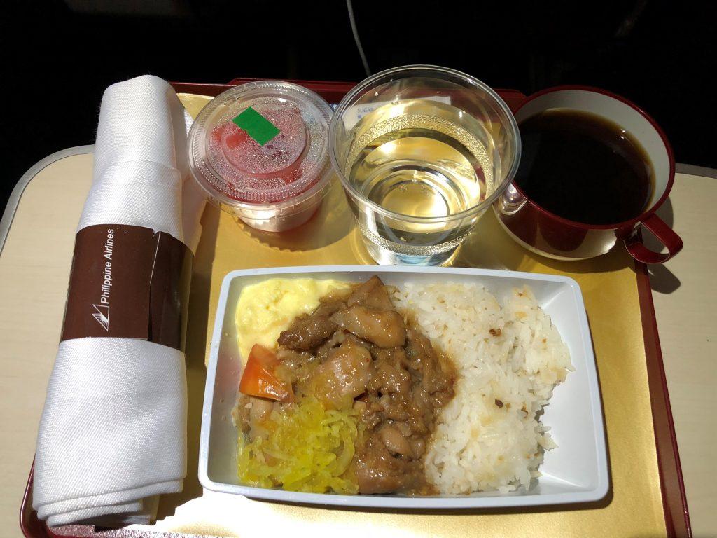 Philippine Airlines Premium Economy Food