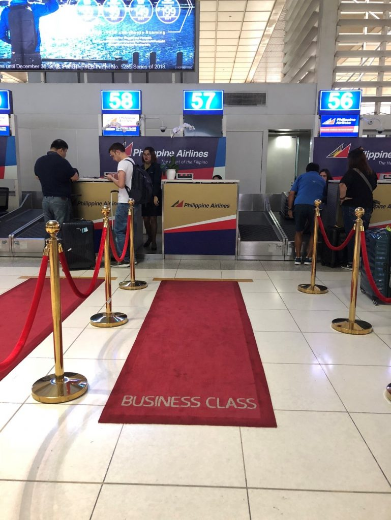 Philippine Airlines Business Class Check-in