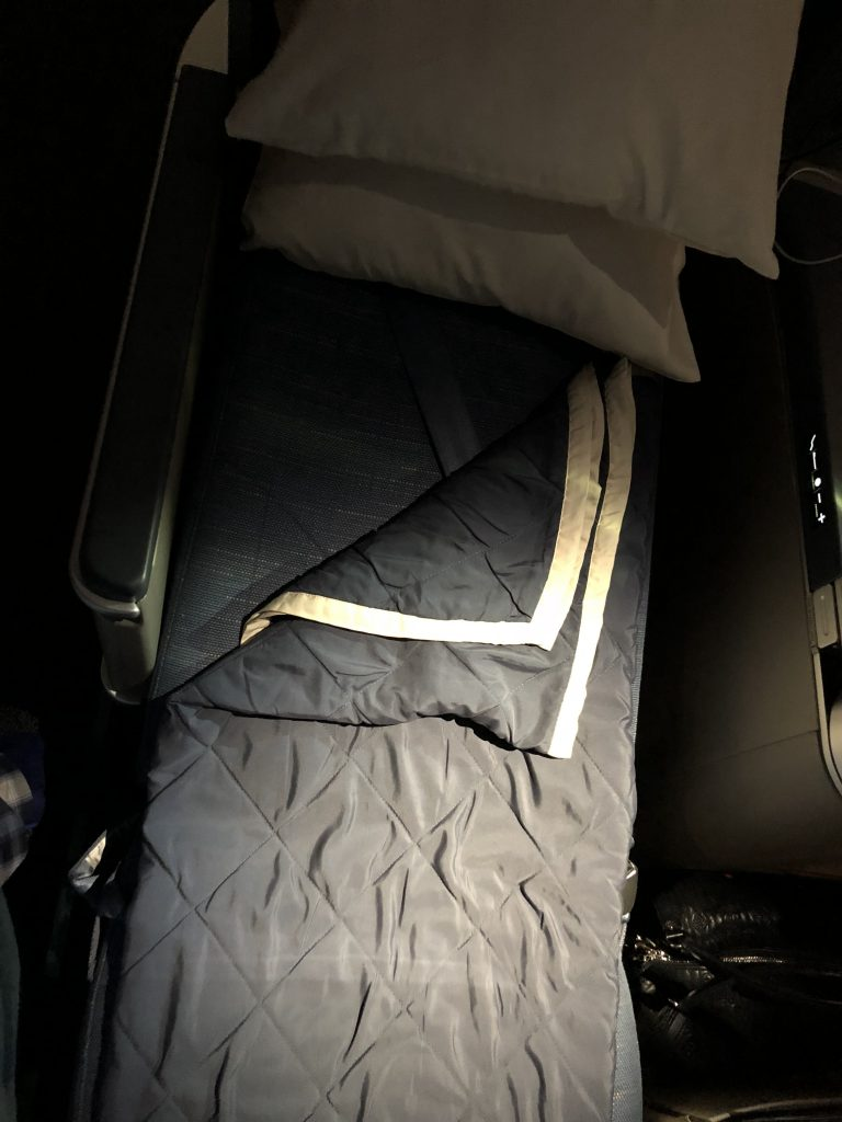 Philippine Airlines Business Class Seat Lay flat mode