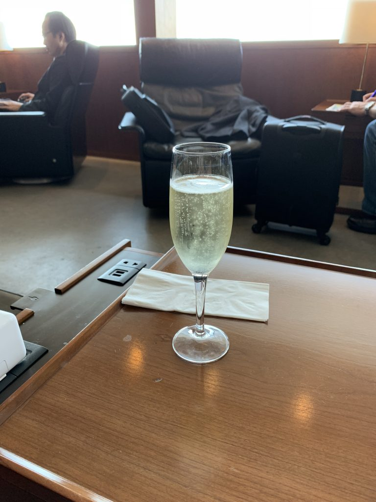 Glass of Champagne from the Lounge