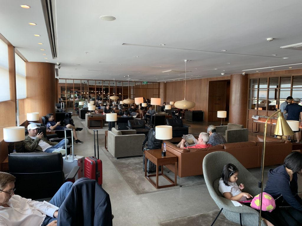Cathay Pacific Lounge Sitting Area