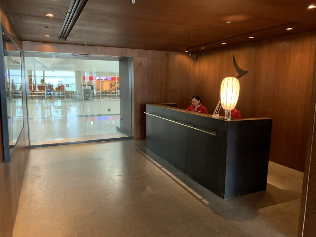 Cathay Pacific Lounge Front Desk