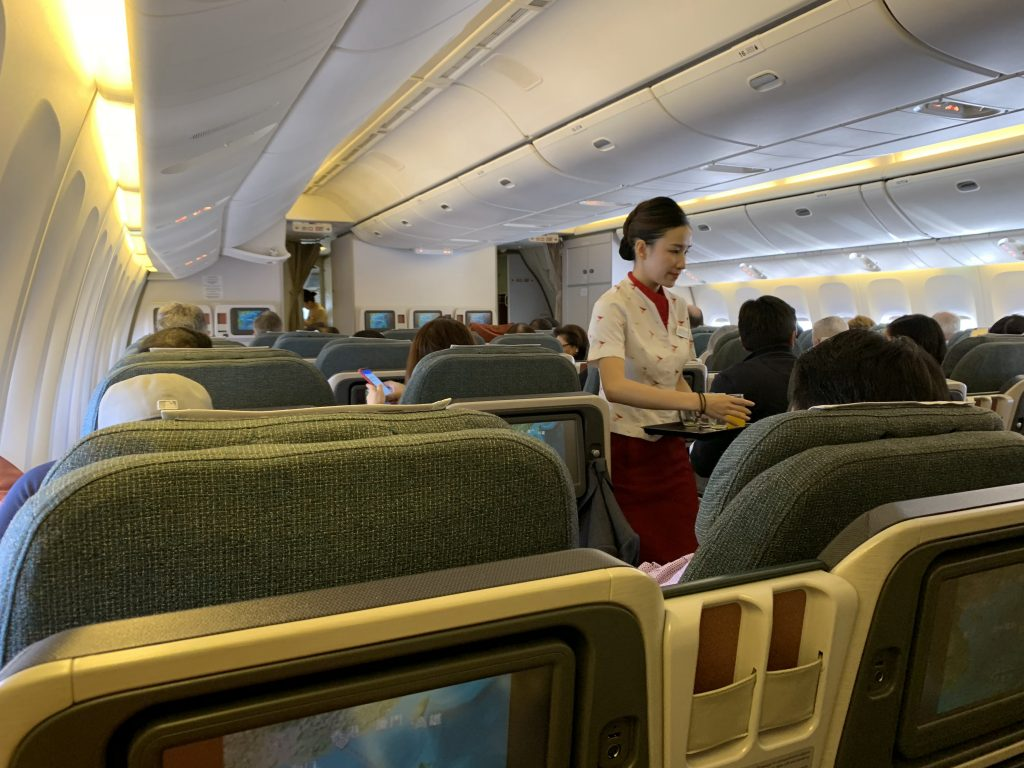 Cathay Pacific Business Class Cabin