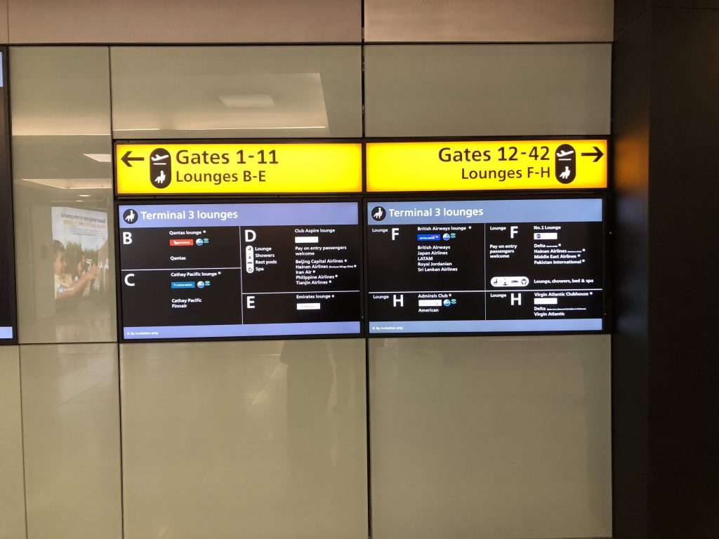 Heathrow Airport Signages