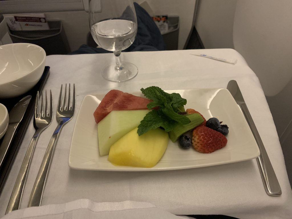 Philippine Airlines Business Class Food