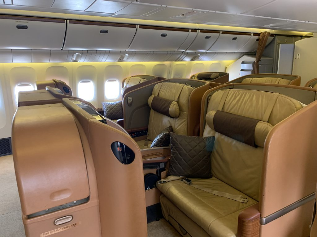 Singapore Airlines First Class Cabin