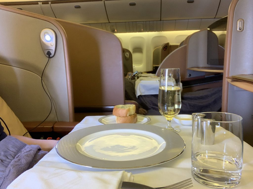 Singapore Airlines Table Setting