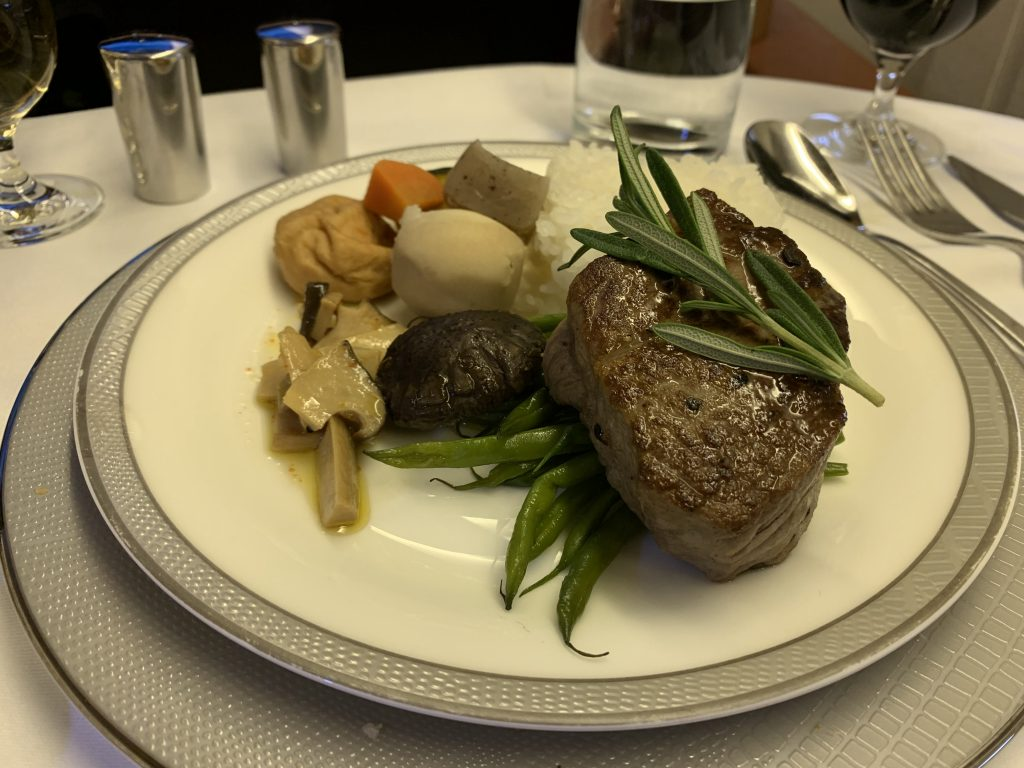 Singapore Airlines First Class Food