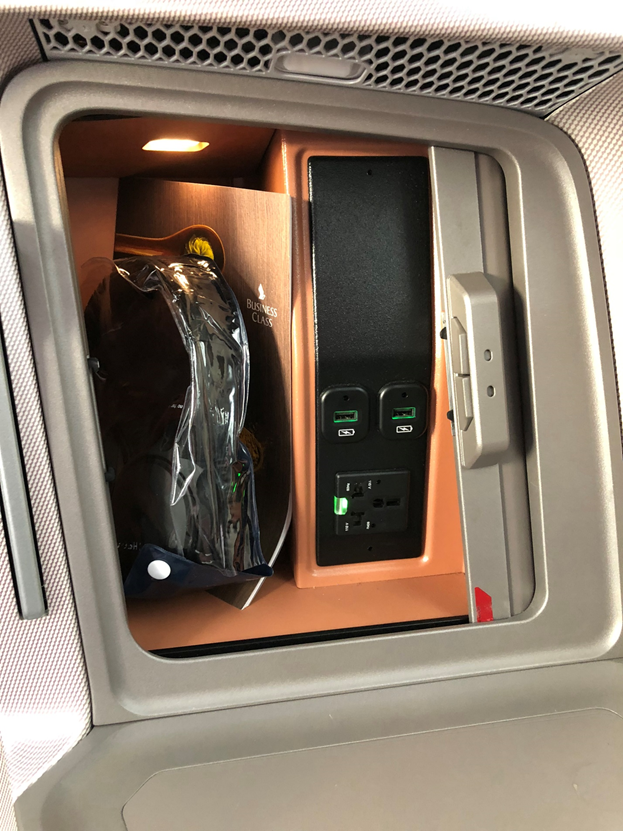 Storage Compartment with Charging Outlets