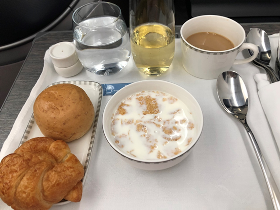 Singapore Airlines Business Class Food
