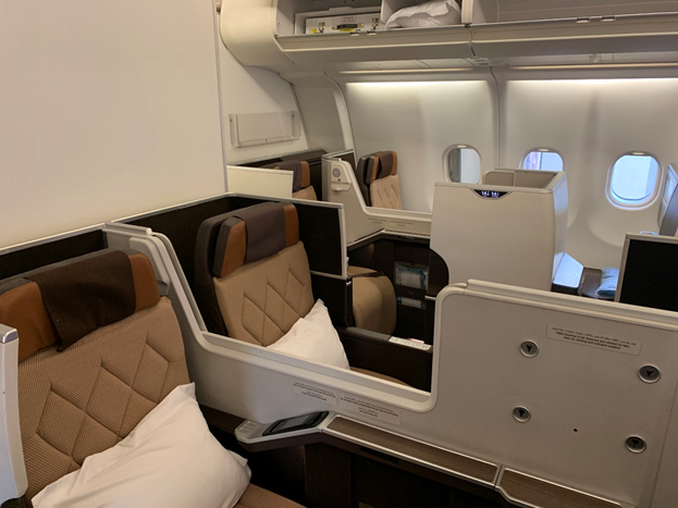 Oman Air Business Class Aisle Seat Partitions