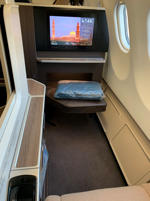 Oman Air Business Class Seat Pitch