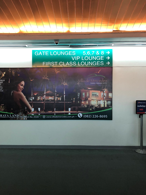 Airport Signage to Lounges