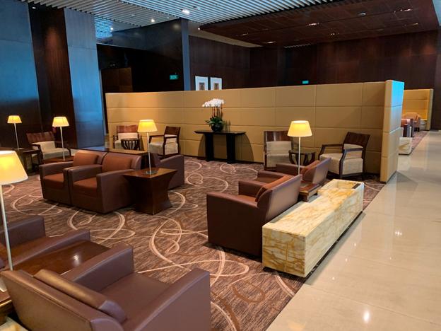 SilverKris Lounge First Class Lounge Sitting Area