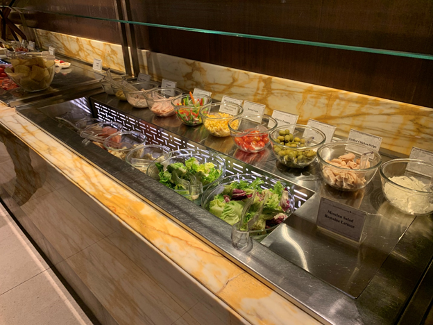 SilverKris Lounge First Class Lounge Salad Bar