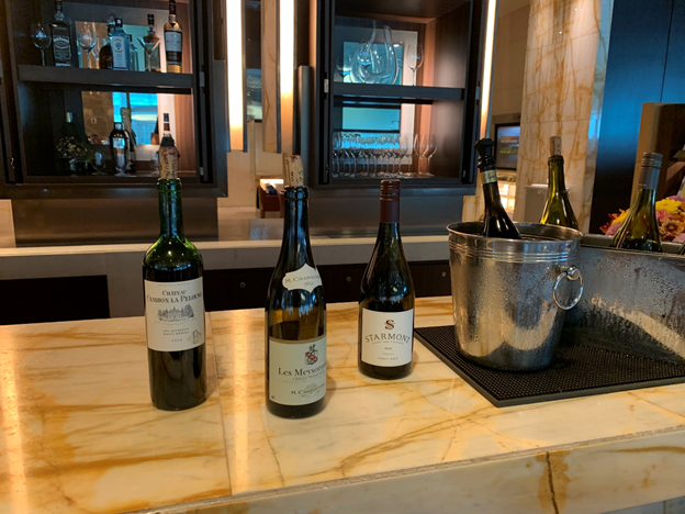 SilverKris Lounge First Class Lounge Liquor Selection