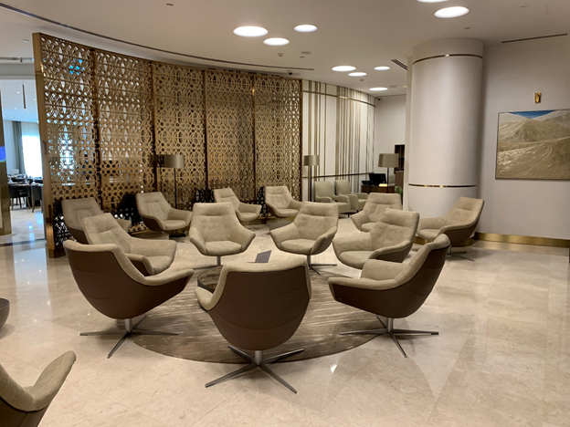 Business and First-Class Lounge Sitting Area