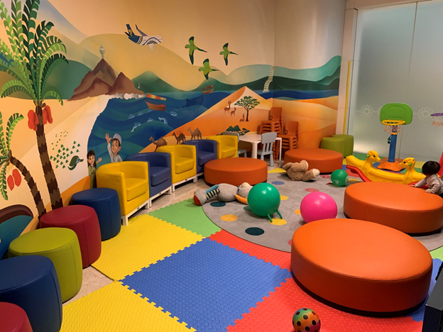 Business and First-Class Lounge Children's Playroom