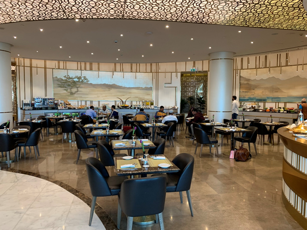 Business and First-Class Lounge Dining Area