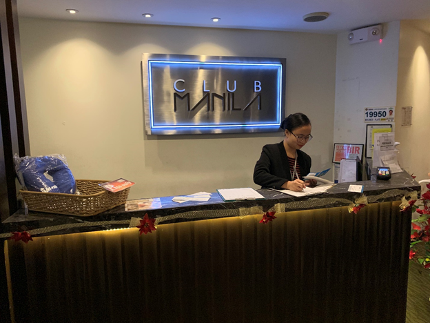 Club Manila Front Desk