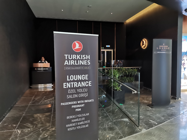 Istanbul Airport Turkish Business Lounge Entrance