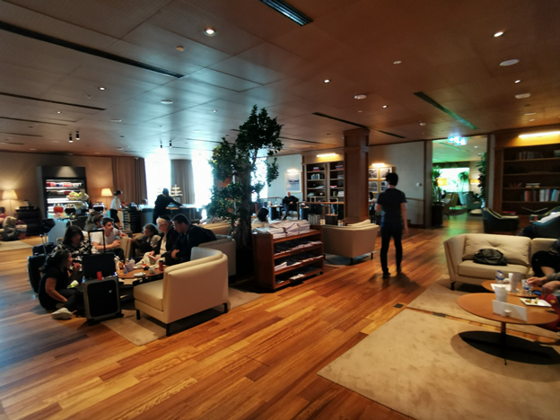 Istanbul Airport Turkish Business Lounge Sitting Area