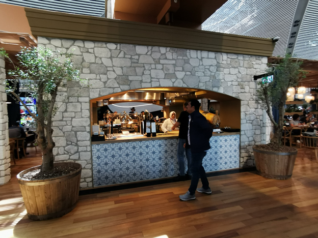 Turkish Business Lounge Open Stone Kitchen