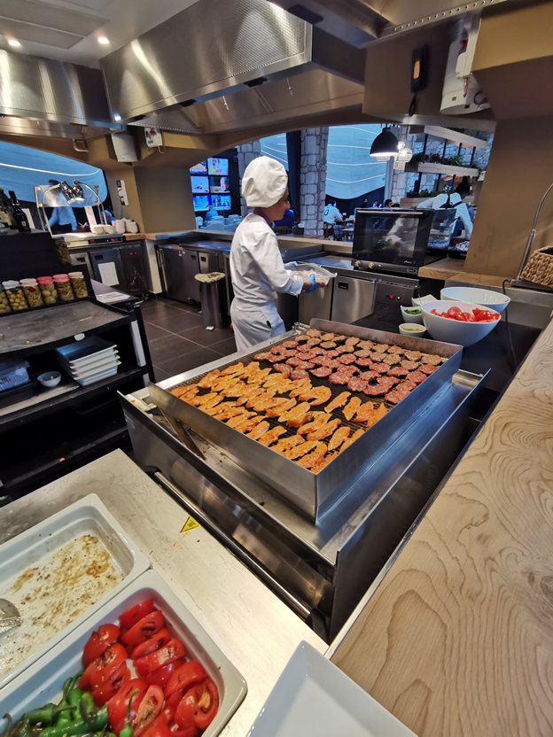 Turkish Business Lounge Grill Station