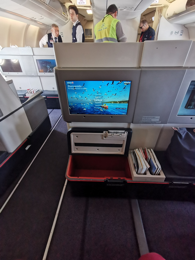 Turkish Airlines Business Class In-Flight Entertainment and Storage Unit