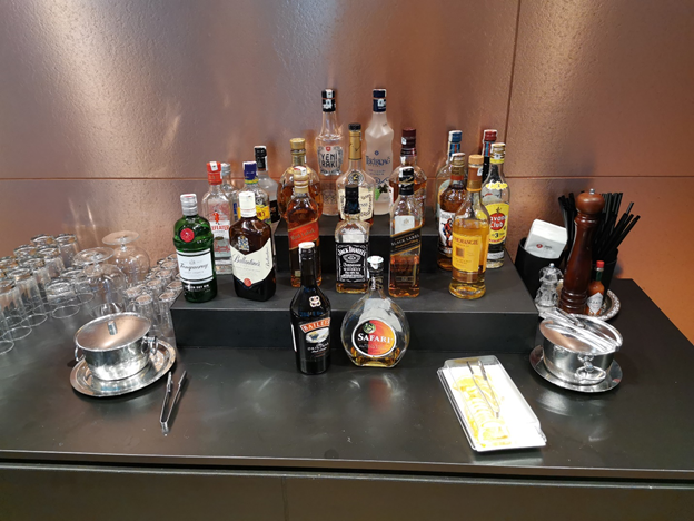 Turkish Business Lounge Liquor Selection