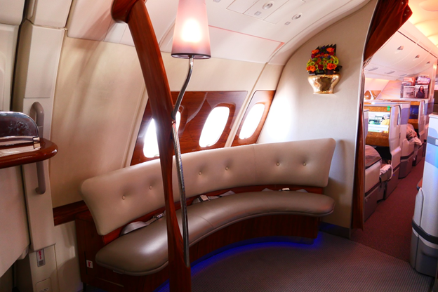 Emirates First Class In-flight Lounge