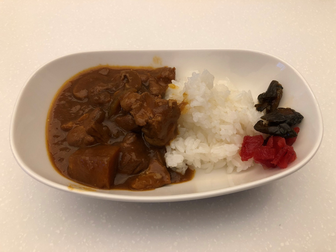 ANA Suite Lounge Curry Rice
