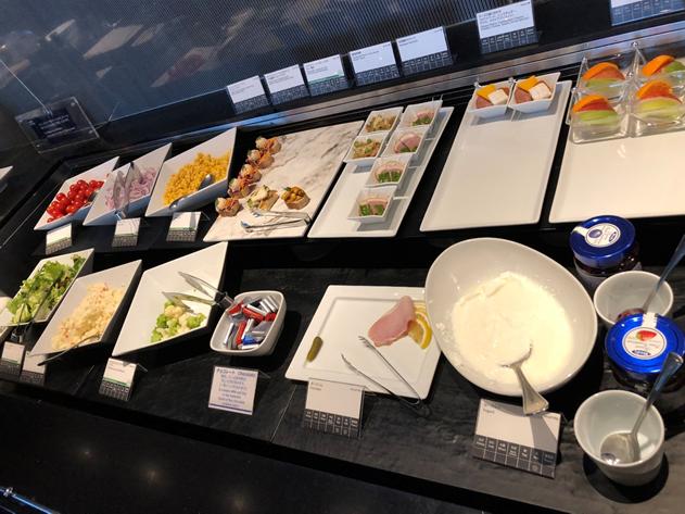 ANA Suite Lounge Food Selection