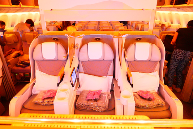 Emirates Business Class Middle Seats