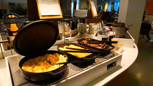 Lufthansa Senator Lounge Food Selection