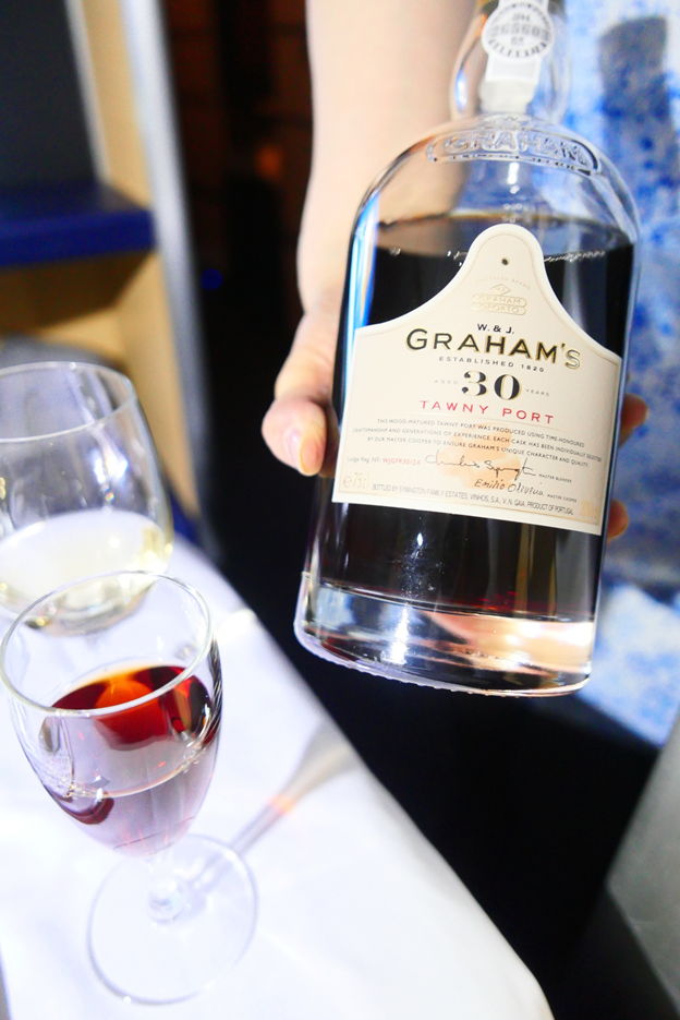 Glass of Graham's 30-year-old Tawny Port