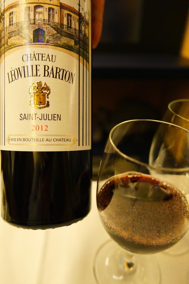 Glass of Leoville Barton 2012