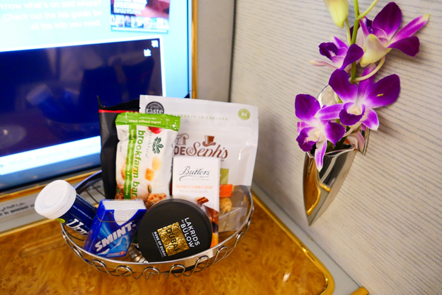 Emirates First Class Welcome Snacks