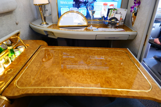 Emirates First Class  Pull Out Table