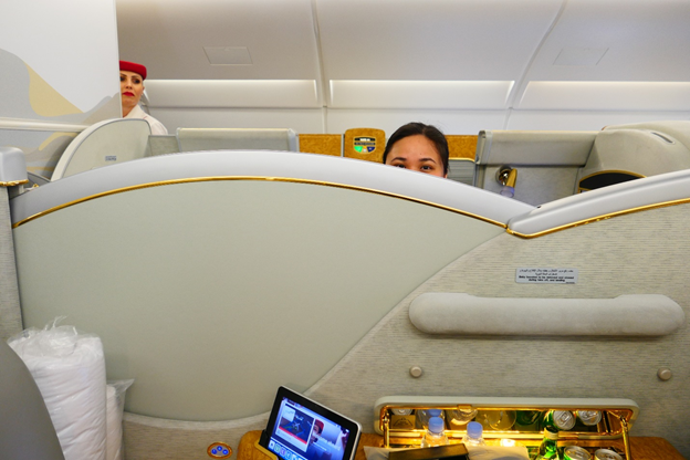 Emirates First Class Middle Seat Partition