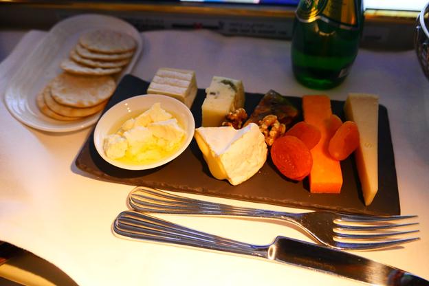 Emirates First Class Cheese Platter
