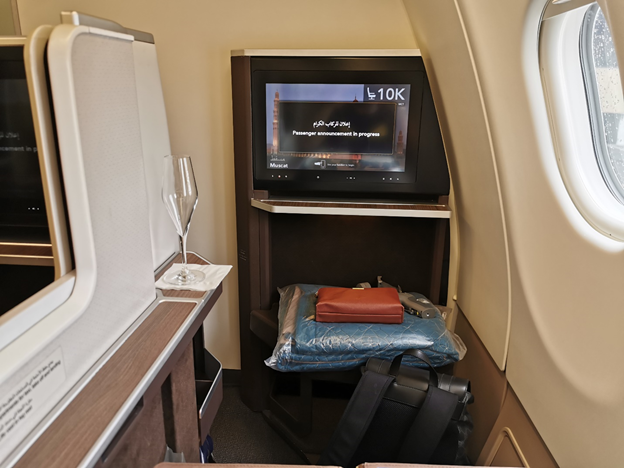 Oman Air Business Class IFE