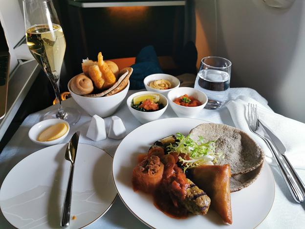 Oman Air Business Class Food Service