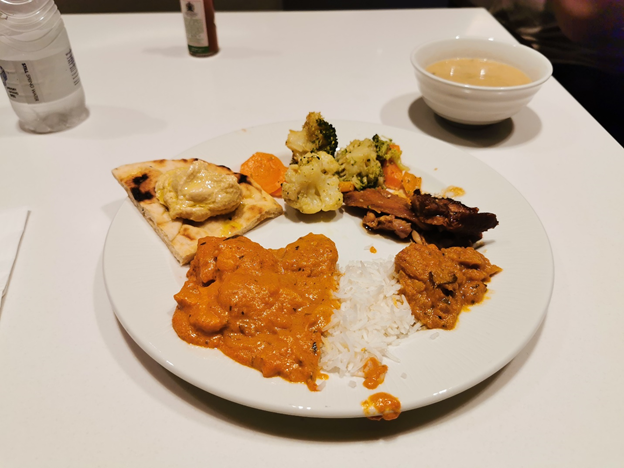 Gulf Air Lounge Food