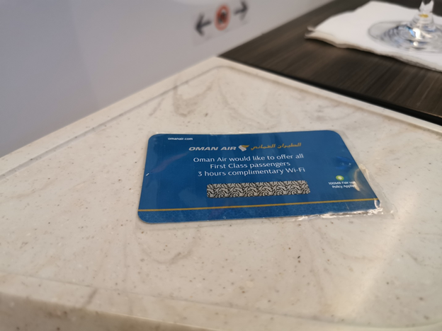 Complimentary Wi-Fi Card