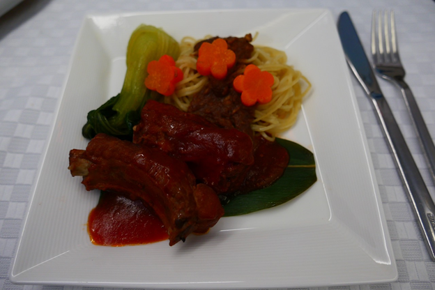 Tan's Red Yeast Sauce Boiled Pork Ribs and Bamboo Leaves served with Sesame Paste Noodles