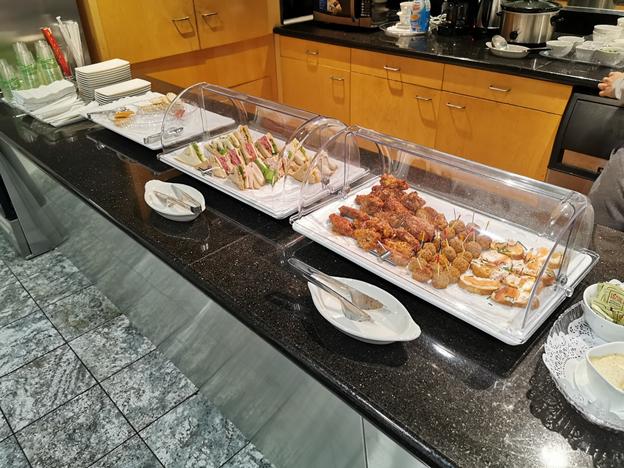 Mabuhay Lounge SFO Food Selection