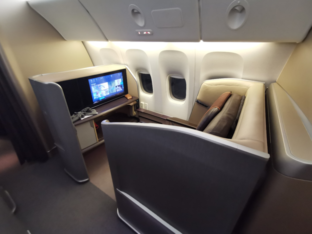 Singapore Airlines First Class Window Seat
