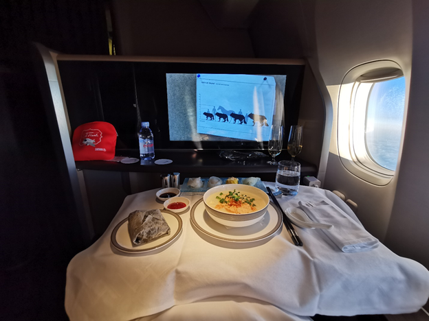 First Class Breakfast Service
